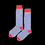Мужские носки высокие Burning heels, синяя тельняшка