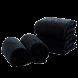 Мужское полотенце чёрное Аляска