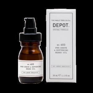 NO. 403 DEPOT Pre-Shave & Softening Beard Oil Смягчающее масло перед бритьём, 30 мл