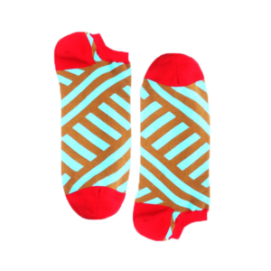 Мужские носки короткие Burning heels, диагональ