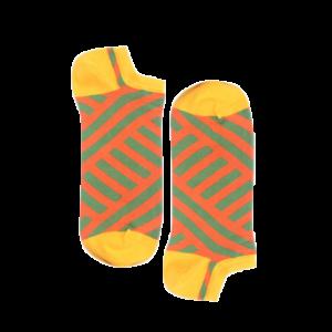 Мужские носки короткие Burning heels, диагональ, жёлтые