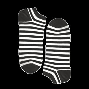 Мужские носки короткие Burning heels, тельняшка чёрные
