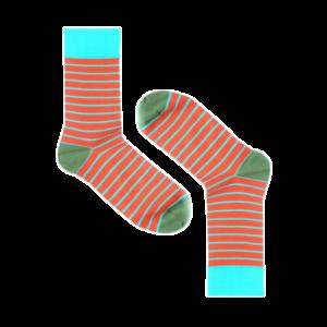 Мужские носки высокие Burning heels, тонкая полоса