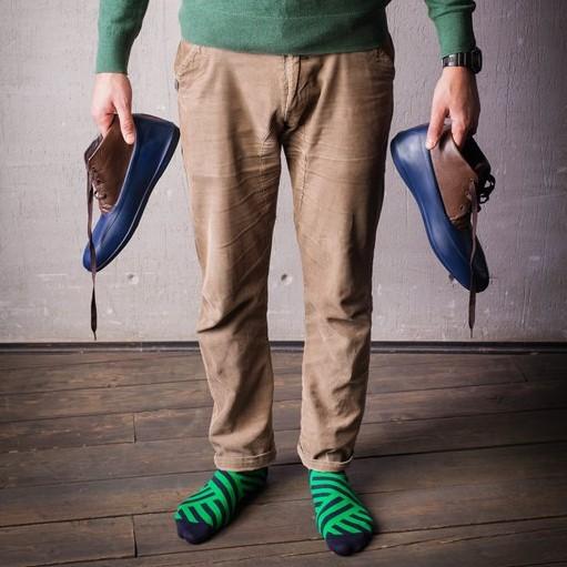 Мужские носки высокие Burning heels, диагональ