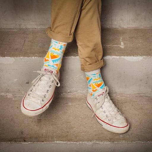 Мужские носки высокие Burning heels, индустрия, светлая
