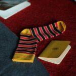 Мужские носки высокие Burning heels, полосатые
