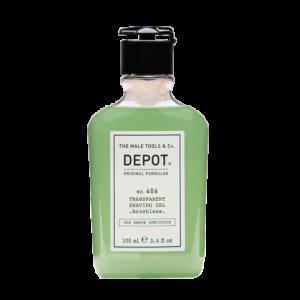NO. 406 DEPOT Гель для бритья Transparent Shaving, 100 мл